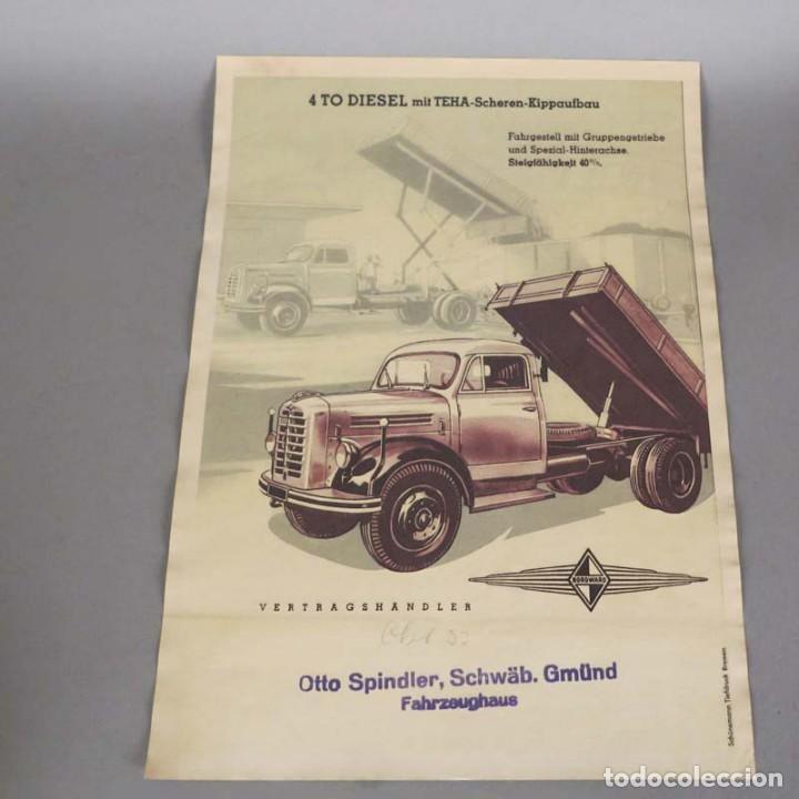 ORIGINAL VINTAGE CARTEL DE BORGWARD DIESEL. 1950 - 1959 (Coleccionismo - Carteles Gran Formato - Carteles Transportes)