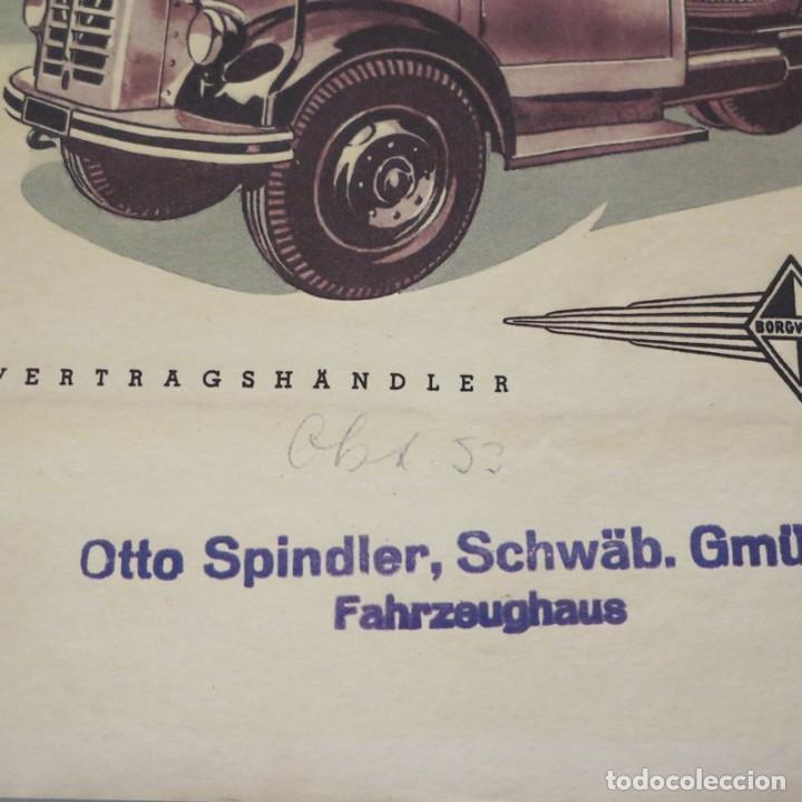 Carteles de Transportes: Original Vintage cartel de Borgward Diesel. 1950 - 1959 - Foto 2 - 121917983