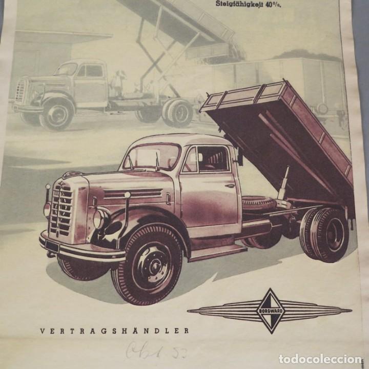 Carteles de Transportes: Original Vintage cartel de Borgward Diesel. 1950 - 1959 - Foto 3 - 121917983