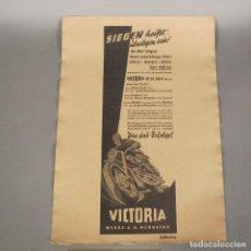 Carteles de Transportes: ORIGINAL VINTAGE CARTEL DE VICTORIA AERO NÜRNBERG. 1950 - 1959. Lote 121918819