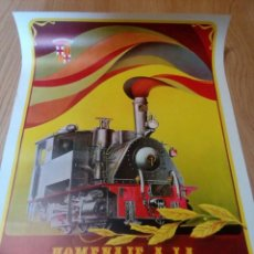 Affiches de Transports: CARTEL HOMENAJE A LA LOCOMOTORA DE VAPOR SETIEMBRE - OCTUBRE 1972. Lote 124982943