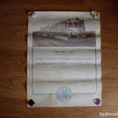 Carteles de Transportes: CARTEL PROPAGANGA DEL TREN TAF. Lote 126948195