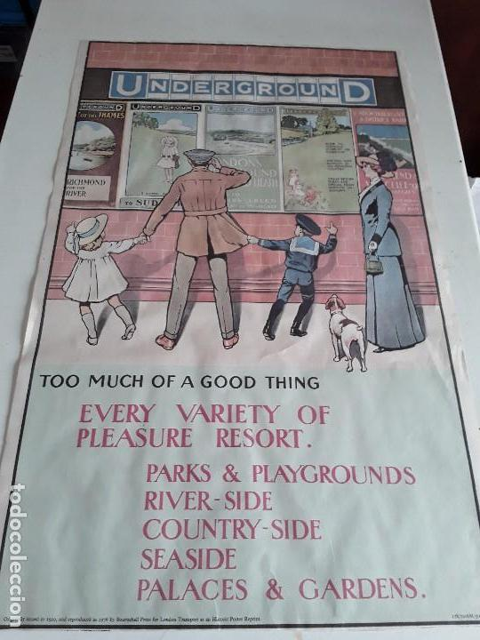 Carteles de Transportes: Cartel del metro de Londres, 1976 - Foto 5 - 127682487