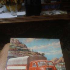 Affiches de Transports: PEGASO MOFLETES. CAMION. LAMINA ORIGINAL AÑOS 50. MUY BIEN CONSERVADA. RARISIMA EN TODOCOLECCION.. Lote 143017298