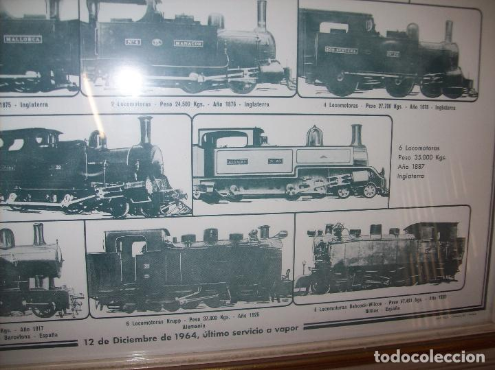 Carteles de Transportes: IMPRESIONANTE CARTEL DE FERROCARRILES DE MALLORCA. CENTENARIO 1875-1975. ENMARCADO. + PROGRAMA - Foto 5 - 130287282