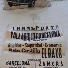 Carteles de Transportes: ANTIGUO CARTEL TRANSPORTE EL RAYO. Lote 144225444
