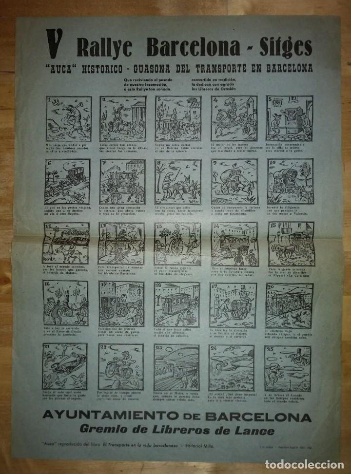 Carteles de Transportes: 1963 V Rally Barcelona Sitges. Auca histórico guasona del transporte en Barcelona - Foto 2 - 117630711