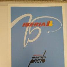Carteles de Transportes: MANOLO PRIETO POSTERS IBERIA. Lote 150095694
