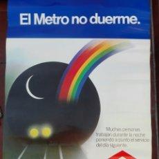 Affiches de Transports: CARTEL ORIGINAL ESTACIONES METRO MADRID AÑOS 80. Lote 152228852