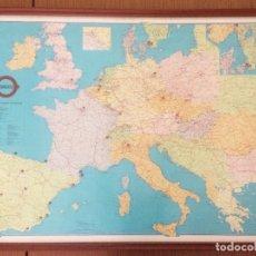 Carteles de Transportes: MAPA EUROPA TRANSPORTE FERROVIARIO TRANSFESA. TRENES. AÑOS 70. Lote 152903402