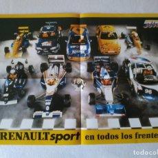 Carteles de Transportes: POSTER RENAULT SPORT F1 MEGANE MAXI.... Lote 156417950