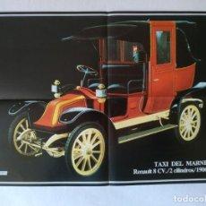 Carteles de Transportes: POSTER RENAULT 8 CV TAXI DEL MARNE 1906. Lote 156421922
