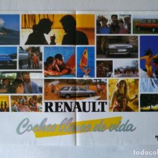 Carteles de Transportes: POSTER RENAULT COCHES LLENOS DE VIDA - ESPACE 21 TXE NEVADA. Lote 156427390