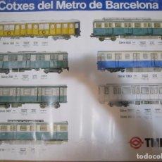 Carteles de Transportes: CARTEL POSTER TMB COTXES DEL METRO DE BARCELONA. Lote 157094346