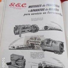 Carteles de Transportes: PUBLICIDAD 1951 - COLECCION FERROCARRIL - GENERAL ELECTRICA TRACCION ANDIESA - RENFE TRANVIA . Lote 162909030