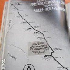 Carteles de Transportes: PUBLICIDAD 1952 - ZAMORA LA CORUÑA PUEBLA DE SANABRIA VIAS Y CONSTRUCCIONES CIFRAS FERROCARRIL . Lote 162912458