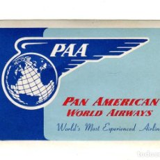 Carteles de Transportes: PAN AMERICAN WORLD AIRWAYS ETIQUETA 10,5 X 7 CMS APROX. AÑOS 50. Lote 170906635