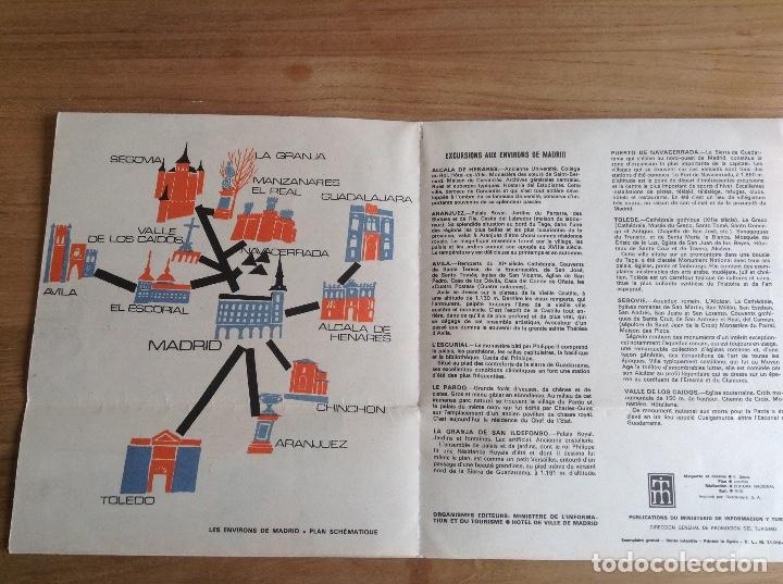 Carteles de Transportes: Madrid et ses environs. Plano Vintage. Mapa - Foto 4 - 175518570