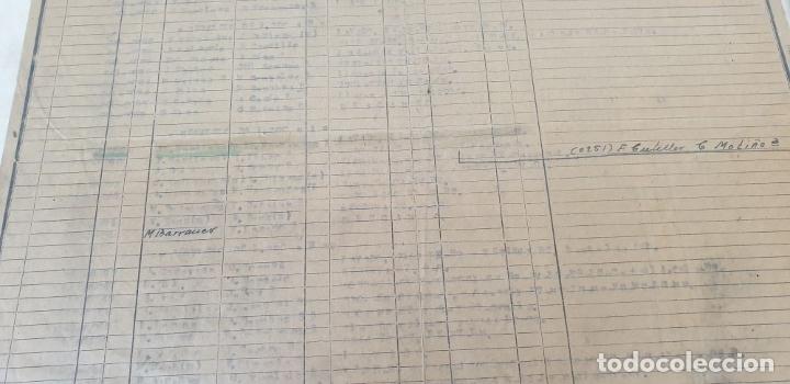 Carteles de Transportes: RED NACIONAL DE FERROCARRILES ESPAÑOLES. SERVICIO DE LAS MÁQUINAS. 1957. - Foto 4 - 178169731