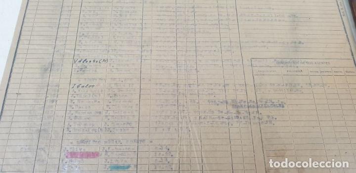 Carteles de Transportes: RED NACIONAL DE FERROCARRILES ESPAÑOLES. SERVICIO DE LAS MÁQUINAS. 1957. - Foto 5 - 178169731