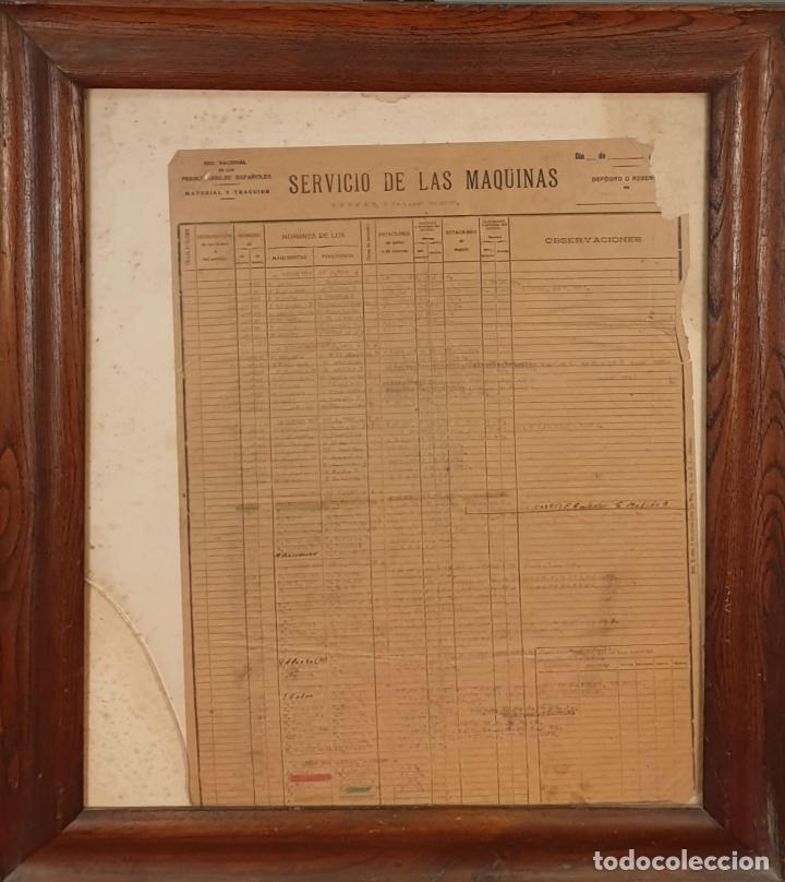 RED NACIONAL DE FERROCARRILES ESPAÑOLES. SERVICIO DE LAS MÁQUINAS. 1957. (Coleccionismo - Carteles Gran Formato - Carteles Transportes)
