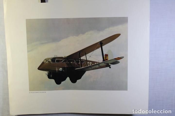 Carteles de Transportes: POSTER PUBLICITARIO IBERIA AVIÓN FORD-4-AT 1930 - Foto 2 - 178570806