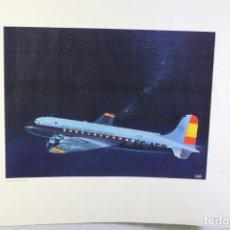 Carteles de Transportes: POSTER PUBLICITARIO IBERIA AVIÓN DOUGLAS DC-4 1944. Lote 178572603