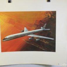 Carteles de Transportes: POSTER PUBLICITARIO IBERIA AVIÓN DOUGLAS DC-8 63 1958. Lote 178609966