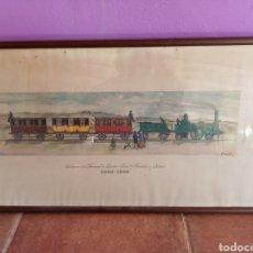 Carteles de Transportes: CENTENARIO DEL FERROCARRIL BARCELONA A MATARÓ. Lote 179222531