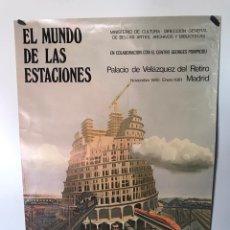 Carteles de Transportes: ANTIGUO PÓSTER EL MUNDO DE LAS ESTACIONES. Lote 179551542