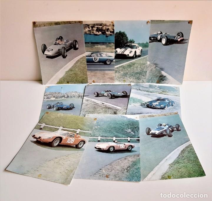 LOTE 10 POSTCARD CARTOLINA VINTAGE NUBALGYL COCHES LABO DIAMANT - 18X24.CM APROX (Coleccionismo - Carteles Gran Formato - Carteles Transportes)
