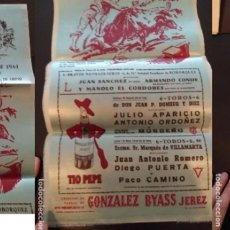 Carteles de Transportes: CARTEL EN TELA TOROS EN JÉREZ MAYO 1961 LA FERIA DE MÁS SOBERA DE ESPAÑA. Lote 182768275