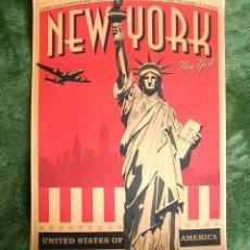 Carteles de Transportes: CARTEL POSTER RETRO - NEW YORK, NUEVA YORK - VEN Y EXPERIMENTA LA CIUDAD TAN GENIAL... Lote 186343245