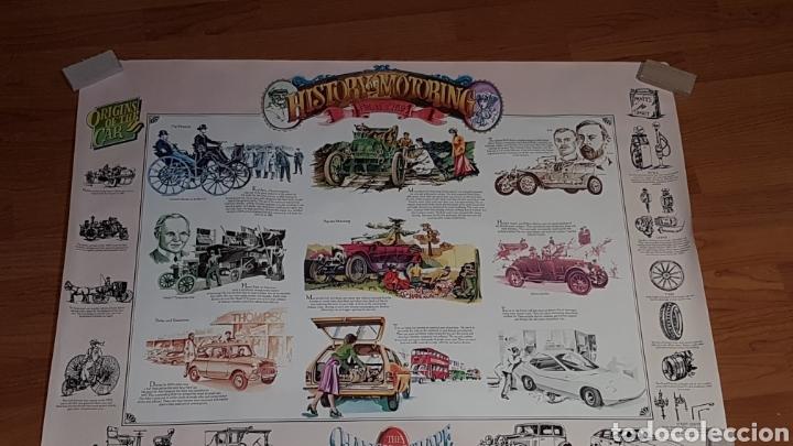 Carteles de Transportes: Antiguo póster historia de la automoción desde 1769 - Foto 2 - 190296742