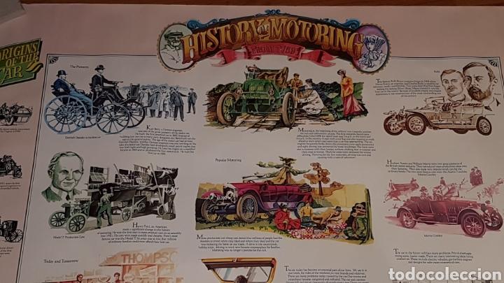 Carteles de Transportes: Antiguo póster historia de la automoción desde 1769 - Foto 3 - 190296742