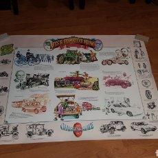 Carteles de Transportes: ANTIGUO PÓSTER HISTORIA DE LA AUTOMOCIÓN DESDE 1769. Lote 190296742