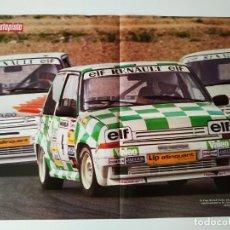 Carteles de Transportes: POSTER COPA RENAULT TURBO Y LANCIA DELTA S4 . Lote 198919395