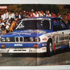 Carteles de Transportes: POSTER BMW M3 E30 PEP BASSAS Y WILLIAMS RENAULT. Lote 198920118