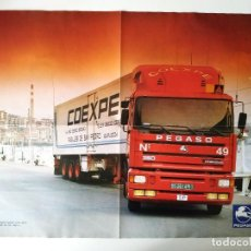 Carteles de Transportes: POSTER PEGASO 1236 38 T Y PEGASO TRONER CARRERAS CS RACING TEAM. Lote 202977002
