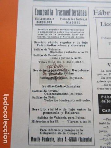 RECORTE PUBLICIDAD 1930 - COMPAÑIA TRASMEDITERRANEA - 6 X 14 CM. (Coleccionismo - Carteles Gran Formato - Carteles Transportes)
