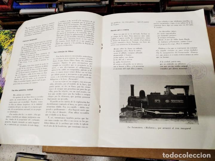 Carteles de Transportes: IMPRESIONANTE CARTEL DE FERROCARRILES DE MALLORCA. CENTENARIO 1875-1975. ENMARCADO. + PROGRAMA - Foto 9 - 130287282