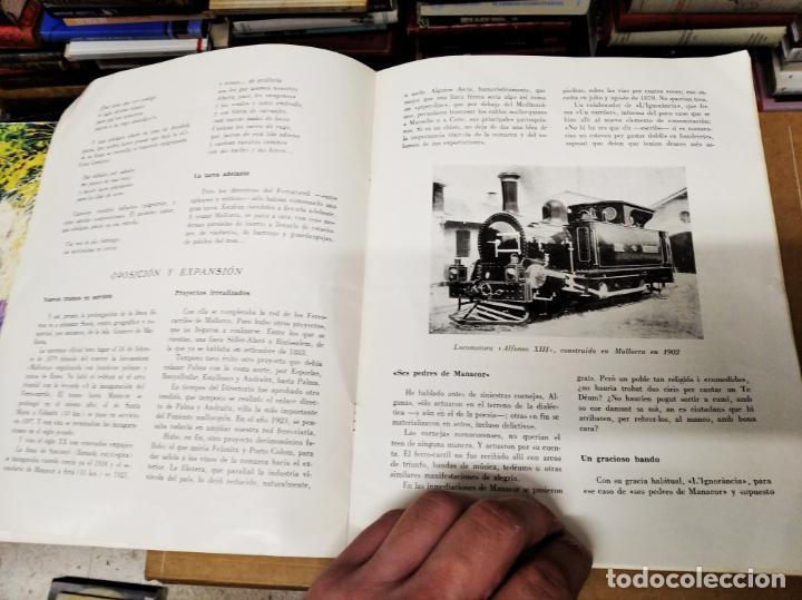 Carteles de Transportes: IMPRESIONANTE CARTEL DE FERROCARRILES DE MALLORCA. CENTENARIO 1875-1975. ENMARCADO. + PROGRAMA - Foto 10 - 130287282