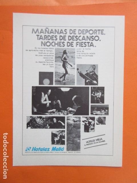 Carteles de Transportes: COLECCION 7 HOJAS PUBLICIDAD HOTELES MELIA AÑOS 60/70 - TAMAÑO 13 X 18.5 CM - Foto 2 - 207815493