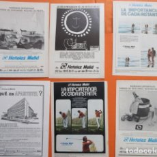 Carteles de Transportes: COLECCION 7 HOJAS PUBLICIDAD HOTELES MELIA AÑOS 60/70 - TAMAÑO 13 X 18.5 CM. Lote 207815493