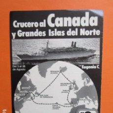 Carteles de Transportes: PUBLICIDAD 1982 - CRUCERO AL CANADA YBARRA - TAMAÑO 13 X 18.5 CM. Lote 207815611