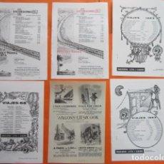 Carteles de Transportes: PUBLICIDAD AÑO 50/60 - FERROCARRIL COLECCION WAGONS LITS COOK 10 HOJAS - TAMAÑO 13 X 18.5 CM. Lote 207816112
