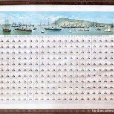 Carteles de Transportes: TELÉGRAFO DE BARCELONA - 1884 - AGUSTÍN MAURI - RARÍSIMO. Lote 210728522