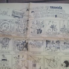 Affiches de Transports: AUCA VERAÇ DEL TRAMVIA MATARONI FINS AL BURRIAC , MATARO ED CAIXA LAIETANA . IL CUYAS LLETRA CASA. Lote 217766148