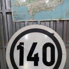 Carteles de Transportes: SEÑAL FERROVIARIA 140 KM/H (90 CM DIÁMETRO). Lote 219326901