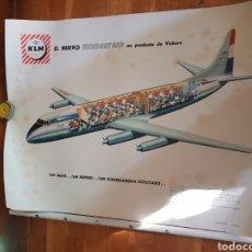 Carteles de Transportes: POSTER CARTEL POSTER AVIACIÓN KLM AVION ANTIGUO VINTAGE COMPAÑIA VUELO. Lote 226511789